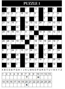 photo about Codeword Puzzles Printable called Huge print codeword puzzles